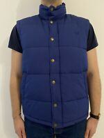 Fred Perry Men's Vest Quilted Gilet Navy Blue Bodywarmer Size- Large