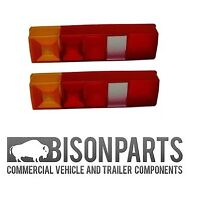 *TRANSIT PAIR TIPPER PICKUP 1985> REAR TAIL LAMP LIGHT REPLACEMENT LENS 4936 X 2