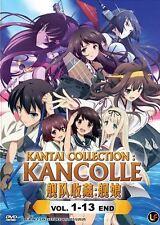 DVD Kantai Collection : Kancolle Vol. 1 - 13 End  Kantai Korekushon + Free Gift