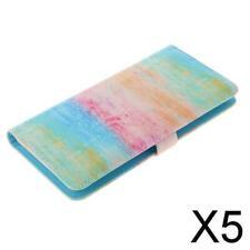 5X   Mini Wallet Fotoalbum PVC Kunststoff Aufbewahrungshalter für SQ6