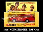 VINTAGE 1968 MONKEES MONKEEMOBILE TOY CAR FIGURE PHOTO MAGNET~Thin Flexible 4x3'