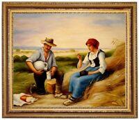 Ölbild Heuarbeit, Lunch, Julien Dupre Gemälde handgemalt signiert F:50x60cm