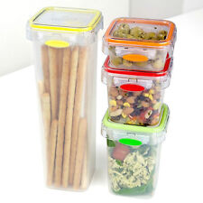 4 Piece Tala Push & Push Storage Canister Set Pasta Jar Food Container Lunch Box