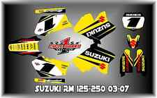 Suzuki RM 125-250 03-12  SEMI CUSTOM GRAPHICS KIT EURO