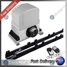 Electric Sliding Gate Opener Automatic w/ 2 Remote Controls Driveway Kit 1200KG
