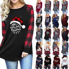 Plus Size Womens Christmas Tops Ladies Pullover Jumper Sweatshirt Xmas Blouse UK