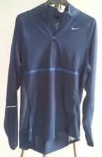 Nike Running T-Shirt Langarm Longsleeve Herren Dry Fit Blau Blue Gr. S
