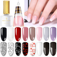 6ml BORN PRETTY Nail Art Soak Off UV Gel Polish Black White Stamping Gel Varnish
