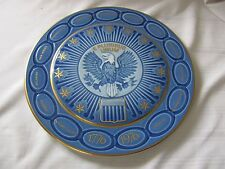 B & G Bing Grondahl Copenhagen US Bicentennial plate blue gold 1776-1976