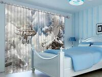 3D Raumschiff 3366 Blockade Foto Vorhang Druckvorhang Vorhänge Stoff Fenster DE