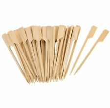 Tala 50 x 9cm Bamboo Wooden Cocktail Sticks | Burger Buffet Olives Canapés BBQ