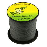 New Gray 100-1000M 6-300LB 100% PE Power Super Braid Pro Fishing Line