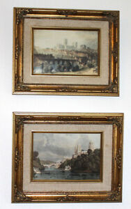 2 x Reproductions of 19th Century Prints - Durham Cathedral & Durham Castle Art