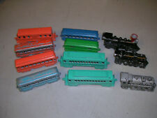 Lot of 12 Midgetoy Die Cast Train (3 Steam Engines and 8 Passenger Cars, 1 Coal)