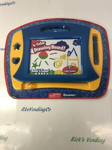 Draw and Erase Board with pen & 2 stampers 4 color 5 inch screen by Grinstudios