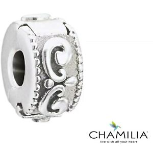 Genuine Chamilia silver 925 princess tiara bracelet charm clip lock