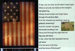 The Star Bangled Banner Francis Scott Key American Flag Fort McHenry MD Postcard