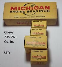 Michigan Engine Bearings 827 P Std Chevrolet 235 261 Cu In N.O.R.S. USA