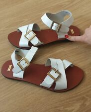 Women's ASOS leather sandals white  color size 6 BNWOB.