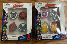 Lot of 2 MARVEL Avengers 4 Pcs. Metal Pin Sets - NEW 8 Total Ironman Thanos