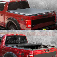 "Tonneau Cover Lock Soft Roll Up With 6.5 FT 78"" Bed For Ford F-150 2004-2014"