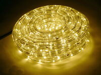 GEV LED Lichtschlauch Warmweiss 9m Innen Außen IP44 + Netzteil Lichterschlauch