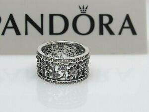 New w/Box Pandora Forget Me Not Purple & Clear CZ Ring 190991ACZ  50, 52 or 54