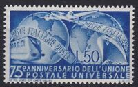 ITL083) Italy 1949, 50Lblue, 75th Anniversary of the UPU, MLH