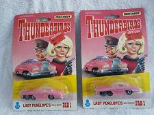 Matchbox Thunderbirds Lady Penelopes Rolls Royce Fab 1 Sealed On Card x 2 Models
