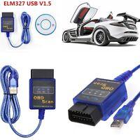 ELM327 V1.5 CAN OBD2 OBDII Car Diagnostic Scanner  Code Reader LR25  USB Version