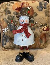 Candlelight Candle Holder Kohl's SNOWMAN Metal Christmas Holiday Luminary Tower