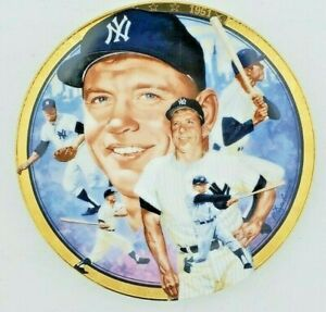 "Mickey Mantle ""The Legendary"" Hamilton Collectors Plate #2849E Yankees 1992"