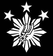 "Philippine Sun Star Spurs Custom Car Decal Sticker 5"" x 5"""