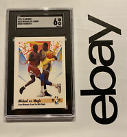 Michael Jordan Magic Johnson SGC 6 Skybox Collector Card 1991 Man Cave INVEST NR