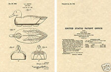US PATENT for DUCK DECOY Art Print READY TO FRAME! hunting Robertson Dynasty