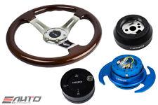 "NRG 330 BR Wood CH S Steering Wheel 1.5"" Deep/170 Hub/3.0 BL Release/Lock Matt a"
