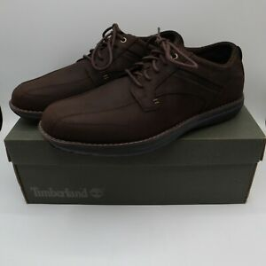Men's Timberland Barrett Park Oxford Dark Brown TB0A16RK Size 9 Suede Lace Up