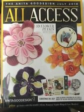 Anita Goodesign All Access Vip Club July 2018 Embroidery Design Cd and Book