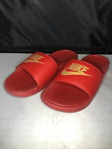 NIKE XJ2 SLIDES SANDALS MENS SIZE 8 343880-602 RED Used
