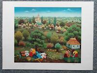 Ivan Generalic Farblithographie 1979 Mittagspause signiert + numm. XV / XXXV