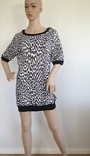 BNWOT Roberto Cavalli Size S Knit Silk Cotton Tunic Dress Animal Print