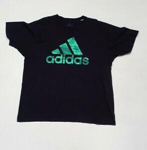 Adidas men's t shirt black size XL camo logo spell out