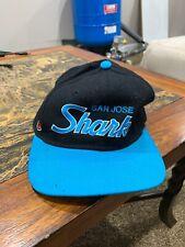 Vintage San Jose SHARKS Sports Specialties Script Snapback Hat PRO Wool NHL 71/8