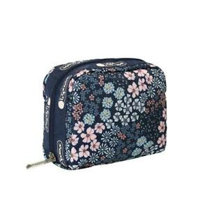 LeSportsac Classic Square Cosmetic Make Up Bag in Faraway Floral NWT