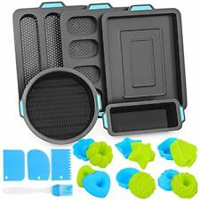 Silicone Bakeware Set Cake Muffin Molds For Nonstick Baking Pans Tray 40 Pieces