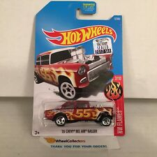 '55 Chevy Bel Air Gasser #12 * RED * 2017 Hot Wheels FACTORY SET Edition