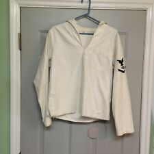 Vintage Sailor Middy Top Shirt Nautical Wwii Radioman Communications Patch