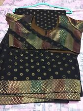 bollywood designer chiffon black saree with stitched blouse