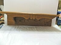 "Clock Shelf Old Oak Shelf Heavy Wood  29"" x 8"" Handmade (14)"