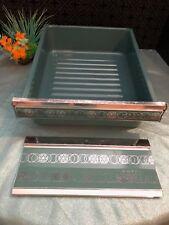 VTG Aqua Turquoise Enamel Refrigerator Drawer COLDSPOT Farmhouse Chic 50s 60s